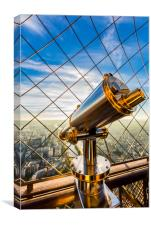 Eiffel Tower Telescope, Canvas Print