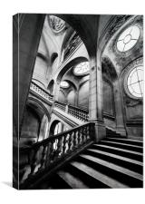 A Stairwell in the Louvre Museum, Paris, Canvas Print