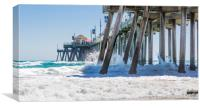 Huntingdon Beach Pier , Canvas Print