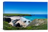 West Pentire, Cornwall., Canvas Print