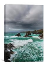 Carnewas & Bedruthan Steps, Cornwall, Canvas Print