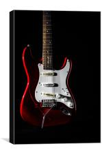 Red Electric Guitar, Canvas Print