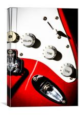 Close-up Red Electric Guitar, Canvas Print