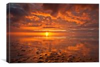 New Brighton Sunset ( Reflections), Canvas Print
