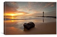 SUNSET AT THE ROCK ( New Brighton ), Canvas Print