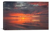 SUNSET (Fiery red sky), Canvas Print