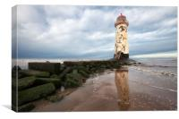 """Talacre Lighthouse"" Mostyn Flintshire, Canvas Print"