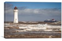 """New Brighton Stormy Sea"", Canvas Print"