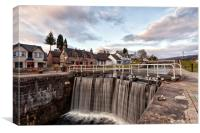 Caledonia Canal (Fort Augustus Scotland), Canvas Print