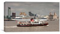 Celebrity Infinity Cruise Ship (Pier Head), Canvas Print