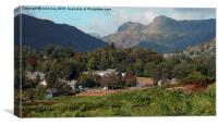 Elter Water in the Langdale Valley, Canvas Print