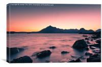 Sunset at Elgol, Canvas Print