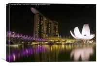 Marina Bay Sands Hotel & ArtScience Museum, Canvas Print