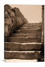 The Old steps, Canvas Print