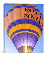 Flaming Hot Air Balloon, Canvas Print