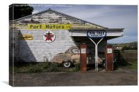 Disused petrol station 2 , Canvas Print