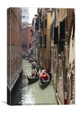 Traffic jam in Venice, Canvas Print