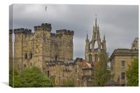 Newcastle; Castle & Cathedral, Canvas Print