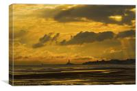 Stormy sky over Blyth beach, Canvas Print