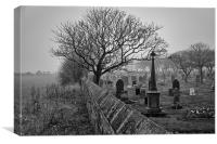 Mist over the Cemetery, Canvas Print