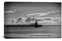 The Piers at Blyth in Northumberland, Canvas Print