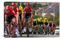 Tour of Britain Cycle Race 2015, Canvas Print