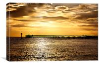 The old wooden pier, Canvas Print