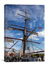 Getting her ship-shape, Canvas Print