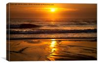 Golden sunrise, Canvas Print