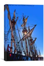 Artistic masts and rigging, Canvas Print