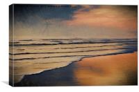 Artistic dawn in the style of Turner, Canvas Print