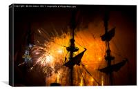Fireworks and Tall Ships 3, Canvas Print