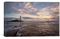 Winter dawn at St Mary's Island (3), Canvas Print