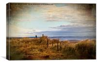 Artistic Druridge Bay from the dunes, Canvas Print
