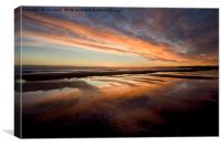 Wet sand reflections., Canvas Print