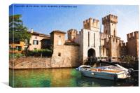 Scaliger Castle, Sirmione with an artistic filter, Canvas Print