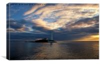 Sunrise at St Mary's Island, Canvas Print