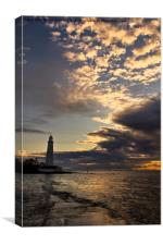 Yet another sunrise at St Mary's Island, Canvas Print