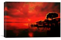 Artistic Sirmione sunset, Canvas Print