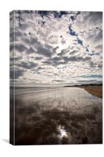 Sky overhead and underfoot, Canvas Print