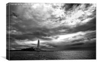 Dramatic early morning sky at St Mary's Island, Canvas Print