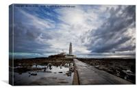 Early morning reflections at St Mary's Island, Canvas Print