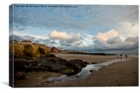 Daybreak at Cullercoats Bay, Canvas Print