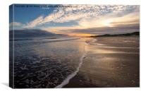 December daybreak at Druridge Bay, Canvas Print
