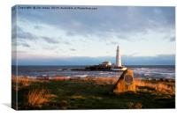 Cragg Point, St Mary's Island, Canvas Print