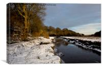 Winter's day near the Seaton Burn, Canvas Print