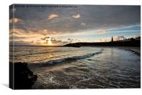 Another Daybreak at Cullercoats Bay, Canvas Print