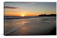 Just after sunrise in Northumberland, Canvas Print