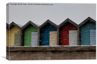Beach Huts for hire - Heating recommended, Canvas Print