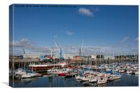 The Marina at South Harbour in Blyth, Canvas Print